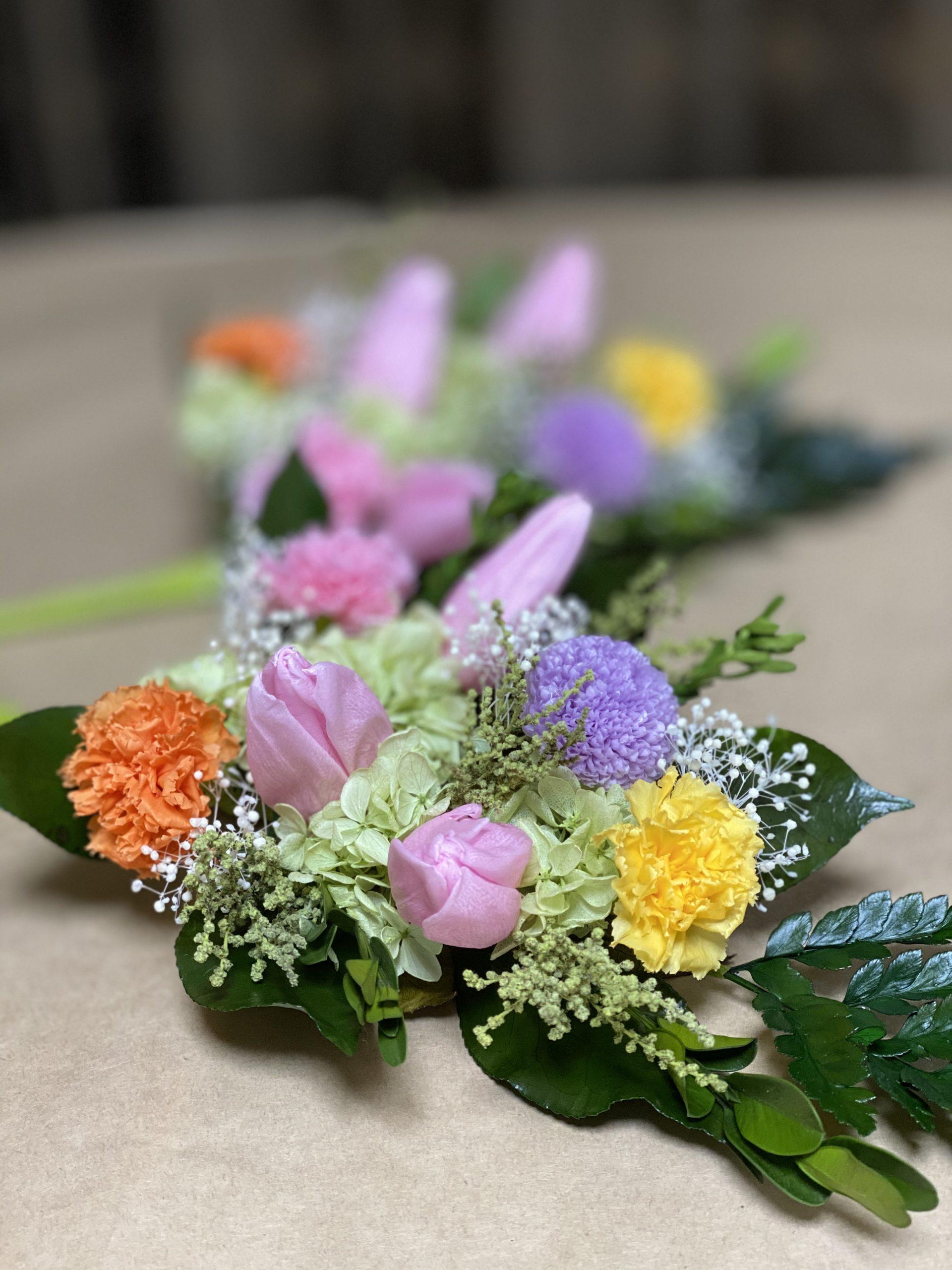 チューリップのプリザーブド仏花
