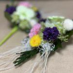 ふわっとした印象のプリザーブド仏花