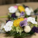 胡蝶蘭のプリザーブド仏花一対