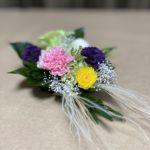 珍しいフェザーグラスのプリザーブド仏花