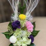 5色の組み合わせが人気のプリザーブド仏花