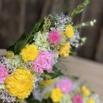 たくさんの菊とカーネーション