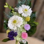 白いガーベラのプリザーブド仏花