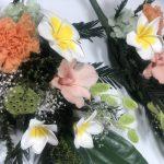 この夏おすすめのプリザーブド仏花、プルメリアのアレンジメント