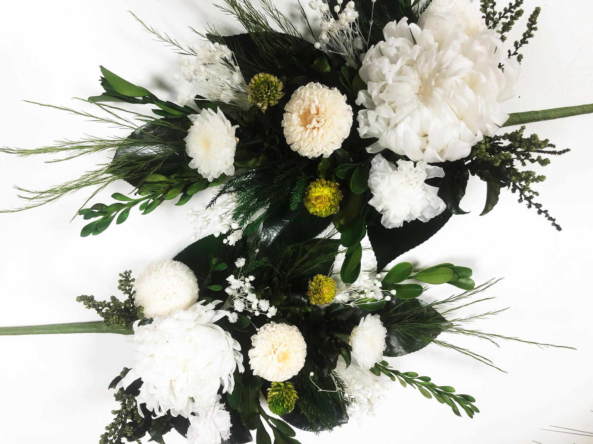 永咲花のプリザーブドフラワー仏花 0207