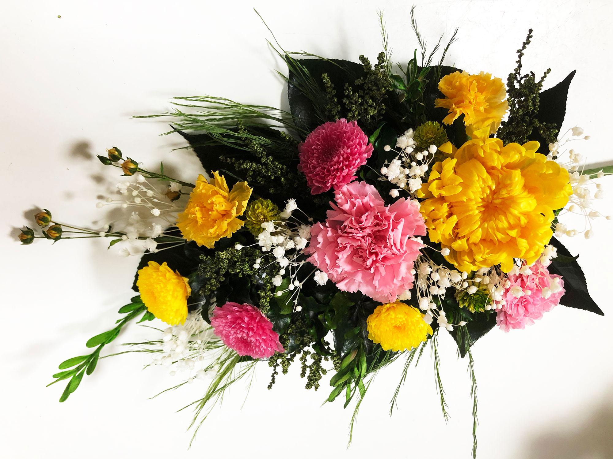 永咲花のプリザーブドフラワー仏花 0235
