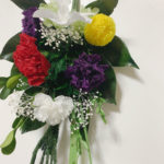 赤+黄+紫+白の仏花