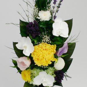 胡蝶蘭の仏花アレンジメント