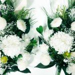 人気再燃! 白いお花のプリザーブド仏花